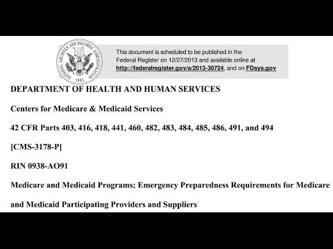 ALERT! HHS Doomsday Prepping ALL Medicare & Medicaid Providers