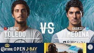 Filipe Toledo vs. Gabriel Medina - Quarterfinals, Heat 3 - Corona Open J-Bay - Men's 2018