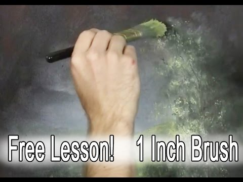 1 Inch Brush Tips, Free Lesson - Paint with Kevin Hill