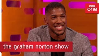 Graham Norton tries out Anthony Joshua