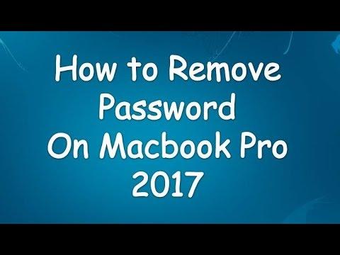 how to remove login password on macbook pro