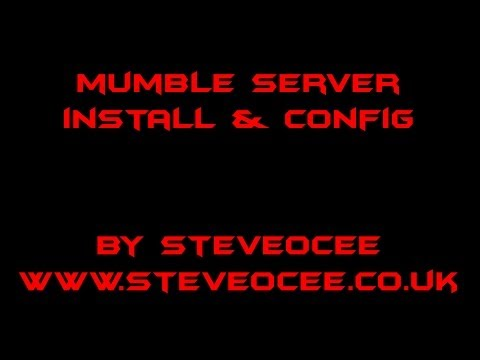 Mumble server install and configuration on Ubuntu server by command line CLI
