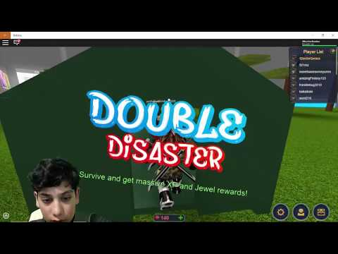 LOL!! I died twice for my survival :  Roblox Disaster Dome with 1DoctorGenius