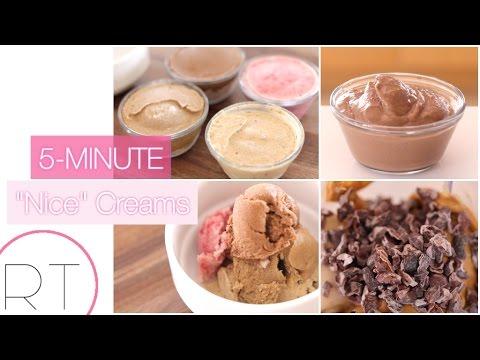EASY Nice Cream Recipes (Coffee, Chocolate, Raspberry, Peanut Butter)