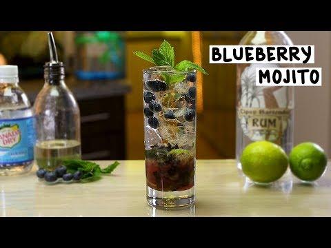 Blueberry Mojito - Tipsy Bartender