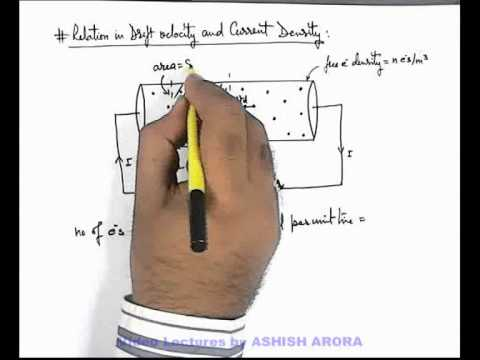 7. Class 12 Physics | Current Electricity | Relation in Drift Velocity and Current Density (GA)