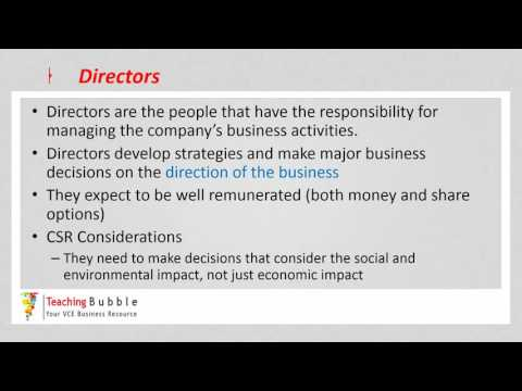 VCE Business Management - Stakeholders