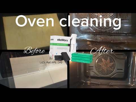 How to clean your oven with toxic and fume free EkoWorx. Does it work or is it a SCAM ?