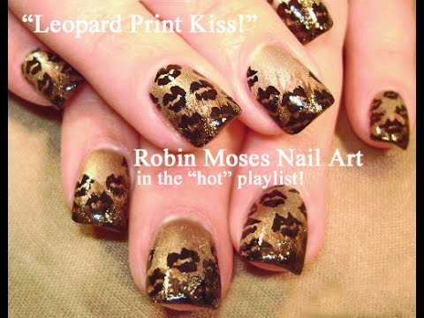 Nail Art! DIY Easy Leopard Print Kiss Nails Design Tutorial