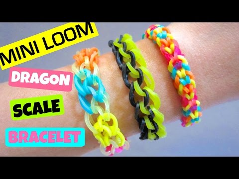 Rainbow Loom Bracelet Dragon Scale With Mini Loom