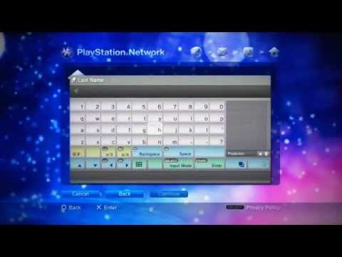 How to set-up a PSN account - By Bigindyk1