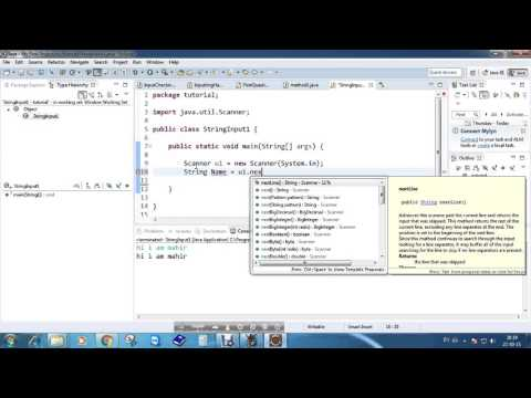 How to take String input in Java Program!