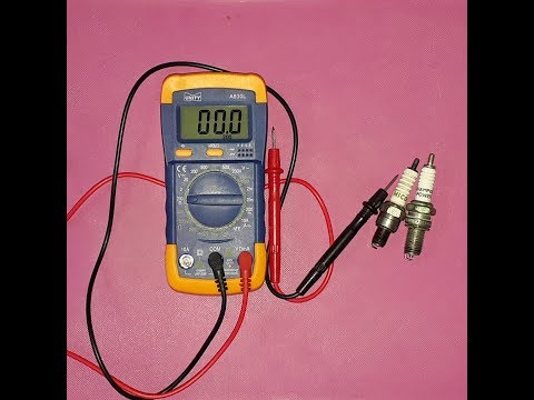 How to check spark plugs with multimeter.(HINDI)