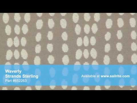 Video of Waverly Strands Sterling Fabric #652263