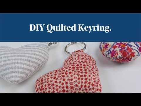 DIY Quilted Keyring