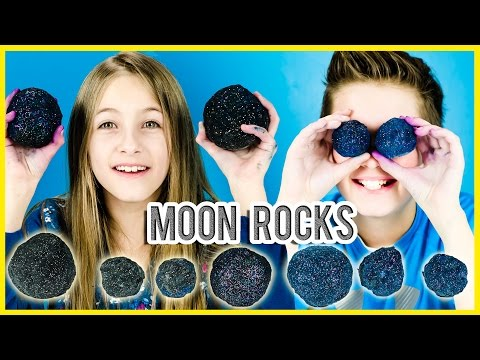 GALAXY MOON ROCKS PINTEREST DIY TEST! MAKE YOUR OWN MOON ROCKS KIDS SCIENCE FUN EXPERIMENT