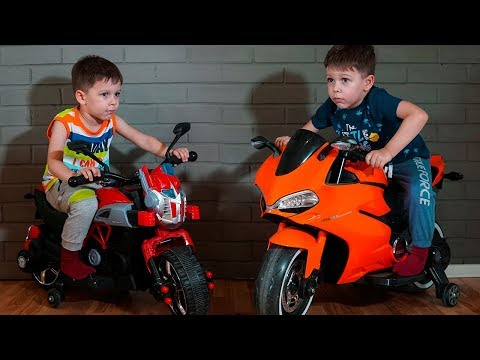 Funny Kid Ride on Power Wheels Sportbike and Pocket Bike for kids Compilation cars video for kids