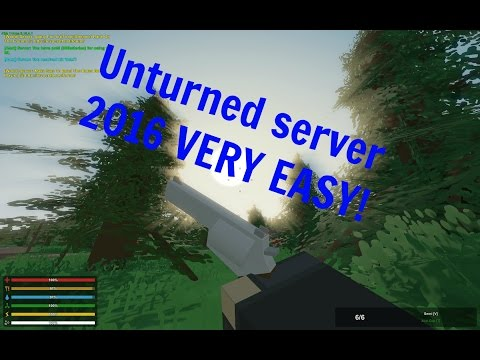 HOW MAKE UNTURNED SERVER 2016 VERY EASY! AND PORT FOWARDING!