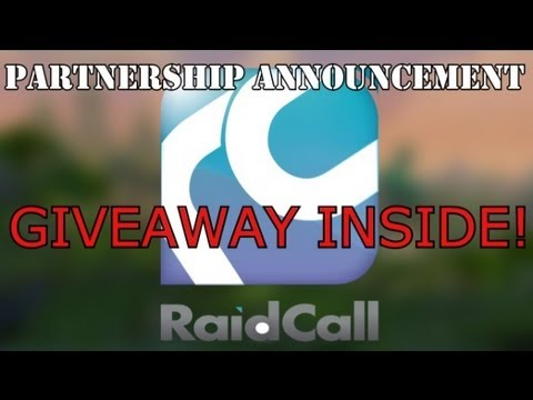 Partnership announcement with Raidcall! Giveaway inside!