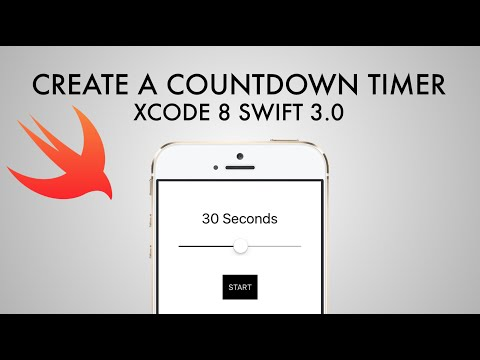 How To Make Countdown Timer App In Xcode 8 (Swift 3.0)
