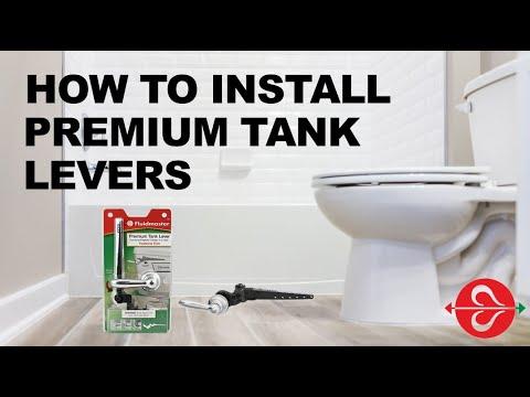 Installing Toilet Flush Handles: Fluidmaster Premium Tank Levers