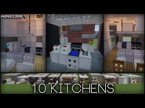 Minecraft - 10 Kitchen Designs! (Plus tips!)