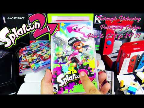 Splatoon 2 thorough unboxing packaging & how to get it cheaper