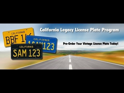 California Legacy License Plate Program