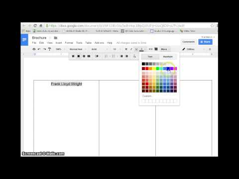 Create a Brochure with Google docs-with example