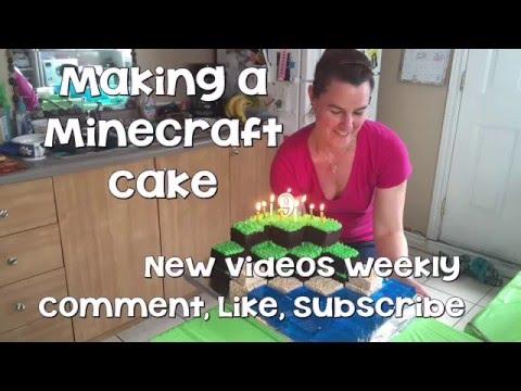 How To Make A Minecraft Cake, A Tutorial