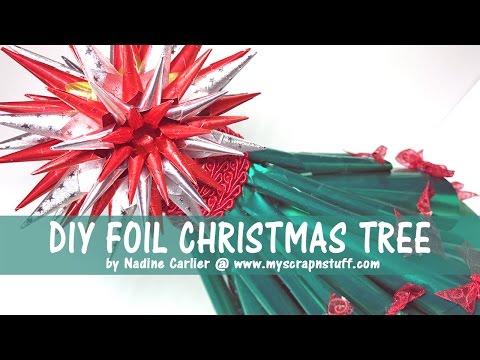 Foil Paper Christmas Tree Decoration