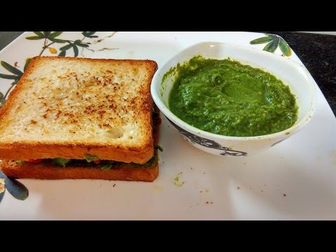 how to make sandwich green chutney | By Anjani | 1st Anniversary, TNBN Tv