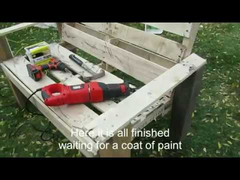 DIY Low Budget Pallet Bench