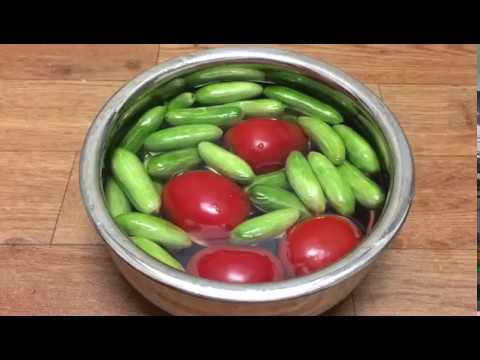 How to wash vegetables with baking soda in tamil