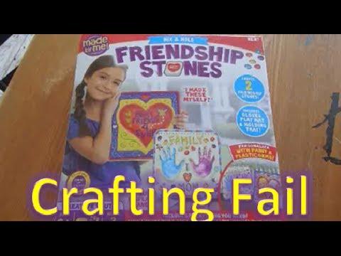 [Nerdy Kids] Family Vlog - Crafting Fail (Friendship Stones)