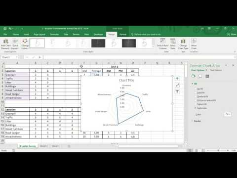 Microsoft Excel: How to create a radar graph