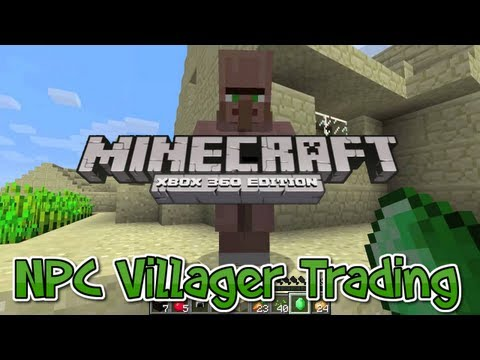 Minecraft Xbox 360 - NPC Villager Trading Tutorial (