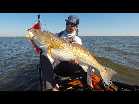 Kayak Fishing: BIG Bull Redfish on a Tough Day | Field Trips