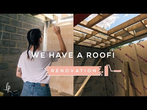 WE HAVE A ROOF! RENOVATION VLOG | Lily Pebbles
