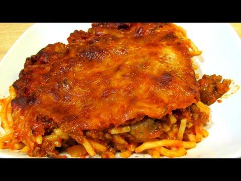 Spaghetti - Baked Spaghetti - Dinner Casserole