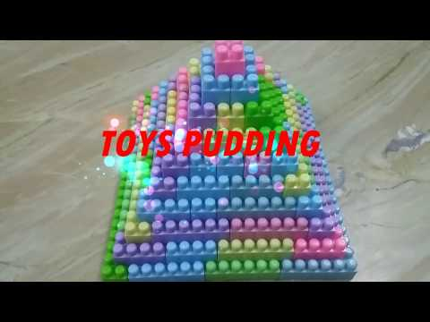 MAKING OF PYRAMID WITH BUILDING BLOCKS | BUILDING BLOCKS FOR KIDS | BUILDING BLOCKS FOR CHILDREN
