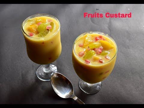Fruit Custard Recipe | Mixed Fruit Custard | Indian Dessert Recipe - Bengali #362