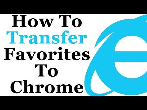 Google Chrome Tutorial - Transfer Internet Explorer Favorites To Chrome