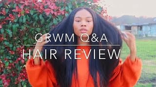 GET READY WITH ME Q&A//BEAUTY FOREVER HAIR REVIEW ON ALIEXPRESS