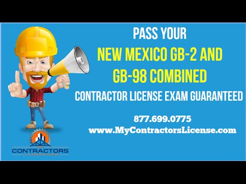 New Mexico Contractor License 🔨 Pass Your Exam Guaranteed!