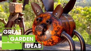 Design Your Own Recycled Metal Garden Art | Gardening | Great Home Ideas