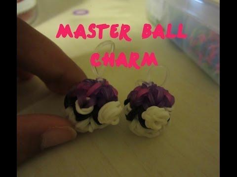 Pokemon Master Ball Charm Rainbow Loom - 3D & Bouncy!