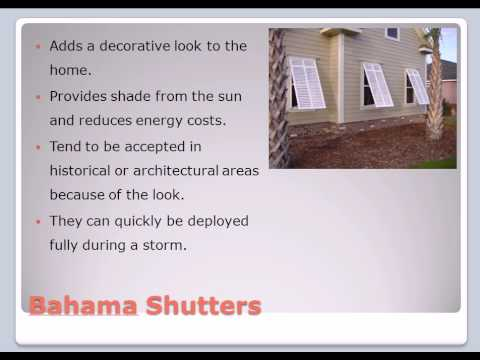 Hurricane Shutters - Bahama Shutters