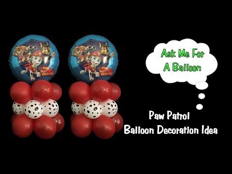 Paw Patrol Balloon Decoration Idea - Dollar Tree DIY