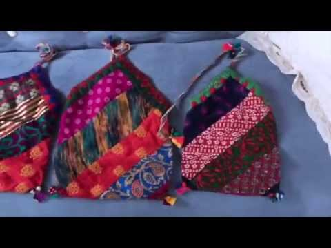 Handmade Crystal, Amulet or Ceremonial Pouches Made in Nepal